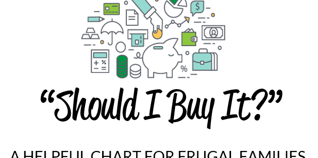 Should I Buy It Chart - Raising Savers