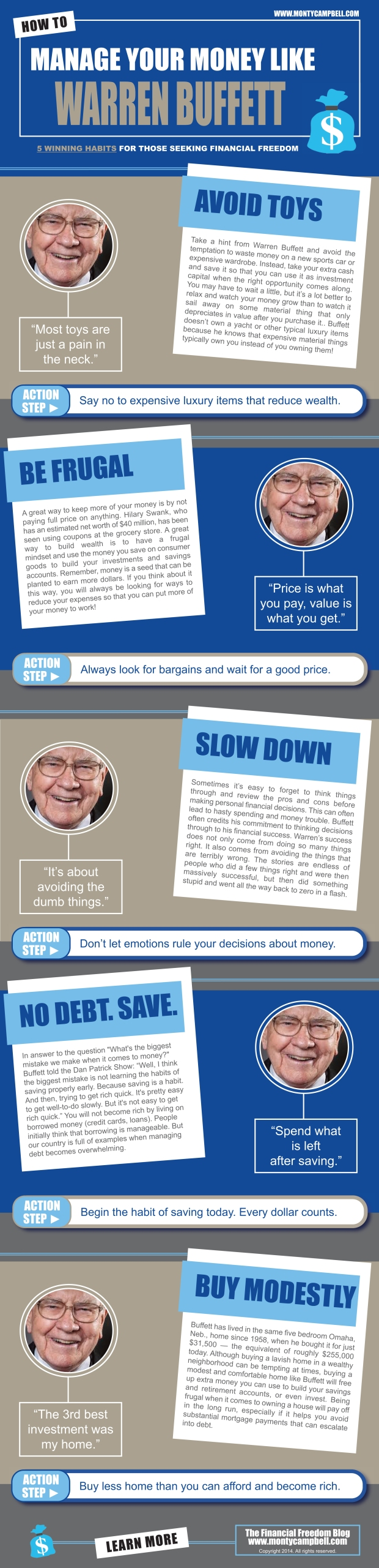 Infographic - Money Tips from Warren Buffett